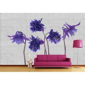 Örgü Çiçekler 3 Boyutlu Resimli Duvar Kağıdı