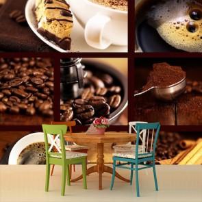 Pasta Kek ve Kahve Kafe ve Restoran Duvar Kağıdı Modeli