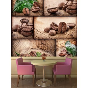 Kahve Tohumları Kafe ve Restoran Duvar Kağıdı Modeli