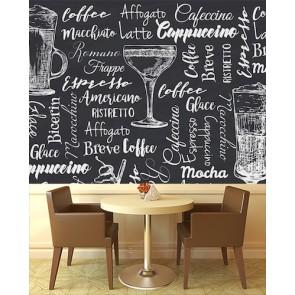 Kahve İsimleri Kafe ve Restoran Duvar Kağıdı Modeli