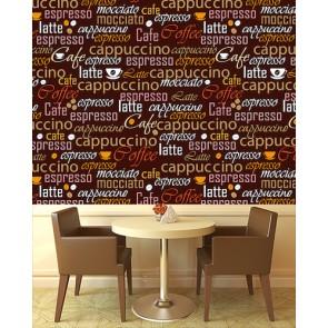 Kahve Çeşitleri Kafe ve Restoran Duvar Kağıdı Modeli