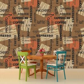 Sütlü Latte Kafe ve Restoran Duvar Kağıdı Modeli