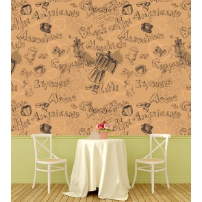 Morachino Americano Kafe ve Restoran Duvar Kağıdı Modeli