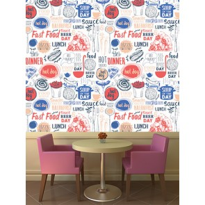 Burger Patates Kafe ve Restoran Duvar Kağıdı Modeli