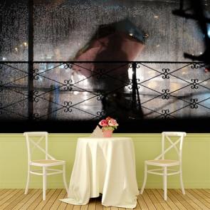 Buğulu Cam Kafe ve Restoran Duvar Kağıdı Modeli
