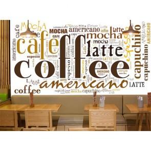 Kahve Dükkanı - Resimli Duvar Kağıdı Modeli Uygulama