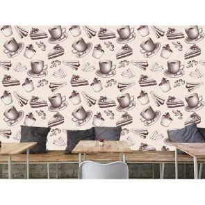 Kahve ve Tatlı - Kafe ve Restoran 3D Duvar Kağıdı Uygulama