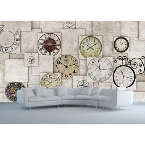 Duvar Saatleri - 3D Duvar Kağıdı Uygulama