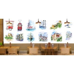 İstanbul Simgeleri - 3D Duvar Kağıdı Uygulama