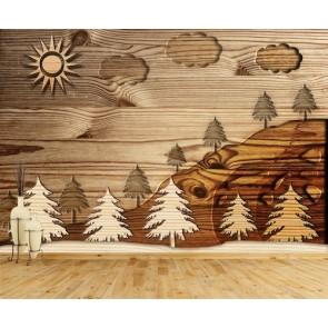 Ahşap Orman - 3D Duvar Kağıdı Uygulama