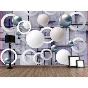 Küreler ve Daireler - 3D Duvar Kağıdı Uygulama