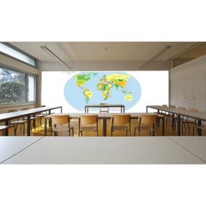 Anadilde Dünya Haritası Poster Duvar Kağıdı Önizleme