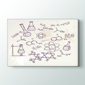 Deney Tüpleri Tablosu | Ders Için Kanvas Tablo