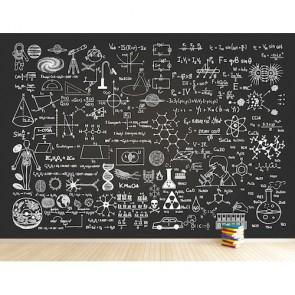 Bilim Formülleri Okul İş Yeri Kreş Duvar Kağıdı