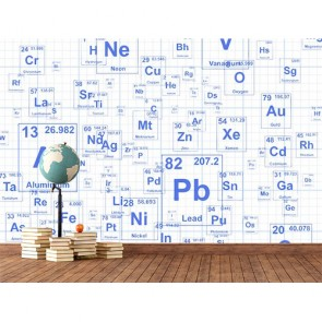 Kimyasal Elementler Okul İçin 3D Duvar Kağıdı Uygulama