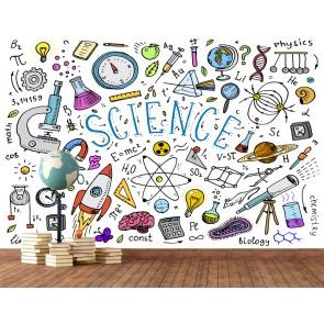 Bilim Aşkı - 3D Okul ve Laboratuvar Duvar Kağıdı Uygulama