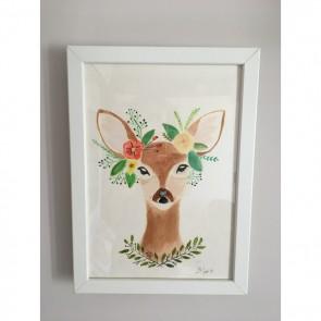 Sanatsal Dokunuşlar | Dilek Bolat'in Deer isimli Suluboya  çalışması