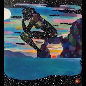 Sanatsal Dokunuşlar | Betül Yılmaz'in Düşünen Kadın isimli Akrilik çalışması