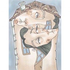 Sanatsal Dokunuşlar | Gözde Çayhan'in Hayat Eve Sığar isimli İllustrasyon çalışması Duvargiydir.com'da