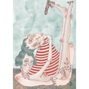 Sanatsal Dokunuşlar | Gözde Çayhan'in Herkes Öldürür Sevdiğini isimli İllustrasyon çalışması Duvargiydir.com'da