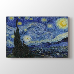 Starry Night - Yağlı Boya Duvar Dekor Kanvas Tablo