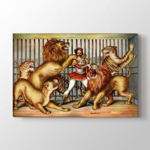 Lion Tamer - Yağlı Boya Kanvas Tablo Modeli