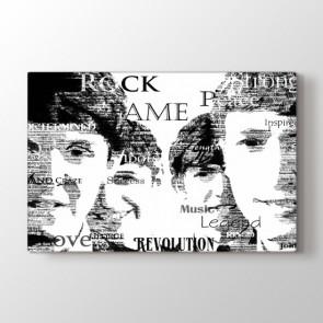 Müziğin Efsaneleri - Siyah Beyaz Duvar Tablosu