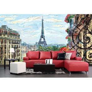 Paris Tablosu - Resimli Duvar Dekorasyonu