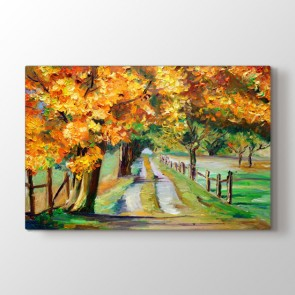 Yağlı Boya Sonbahar - Yağlı Boya Kanvas Tablosu