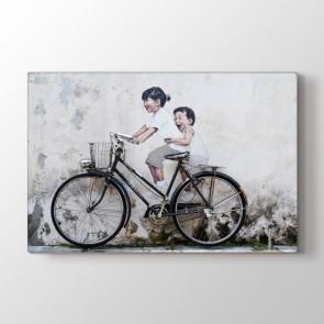 Hayat Güzeldir - Modern Resimli Kanvas Tablo Modeli