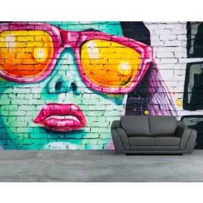 Tarzın Adı Graffiti 3 Boyutlu Duvar Kağıdı