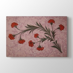 Çiçekler Ebru Sanatı Tablosu | Salon Için Tablo