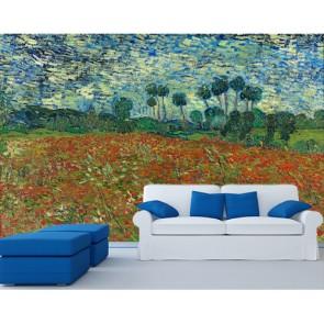 Van Gogh - Poppy Field Duvar Kağıdı Modeli