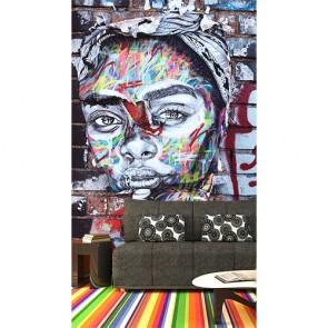 Berlin Duvarında Graffiti - 3D Duvar Kağıdı
