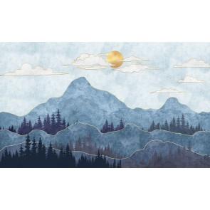 Sanatsal Dağ Manzarası
