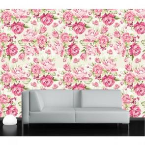 Gülistan Çiçek Gül Desenli Duvar Kağıdı