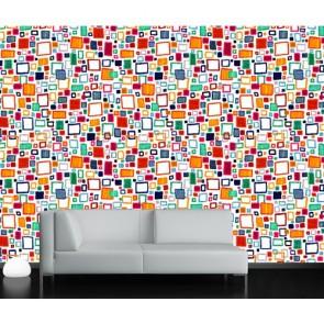 Renkli Dörtgenler Duvar Kağıdı