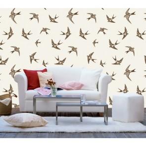 Kuş Uçuşu Desenli Duvar Kağıdı Önizleme