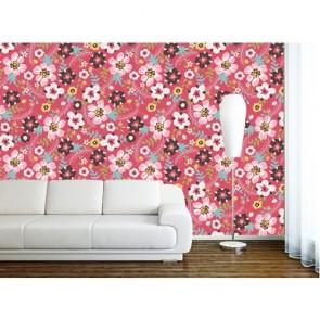 Rengarenk Çiçekler Duvar Kağıdı