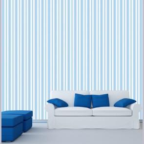 Mavi Çizgiler Duvar Kağıdı Modeli