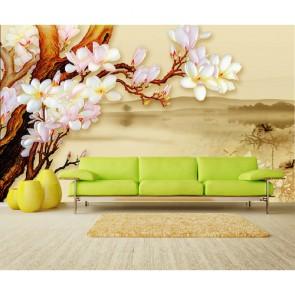 Özel Oturma Odası - 3 Boyutlu Duvar Kağıdı Uygulama
