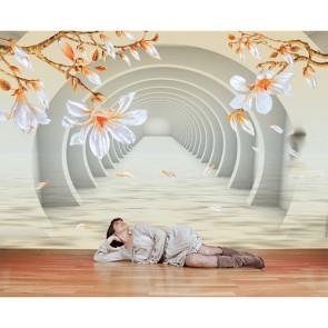 Çiçekli Tünel - Derinlik Katan Duvar Kağıdı Uygulama