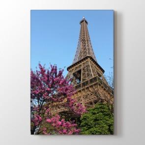 Eiffelin Çiçekleri - Şehir Resimli Tablo Modeli
