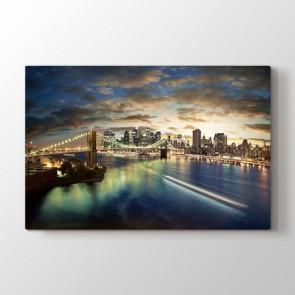 Brooklyn Köprüsü - Şehir Resimli Kanvas Tablo Modeli