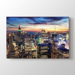 Newyork Işıkları - Şehir Kanvas Tablosu
