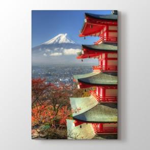 Pagoda - Şehir Resimli Kanvas Tablo Modeli