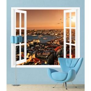 Pencereden İstanbul Manzarası Duvar Kağıdı
