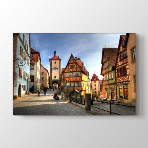 Rothenburg Almanya - Şehir Dekoratif Duvar Tablosu