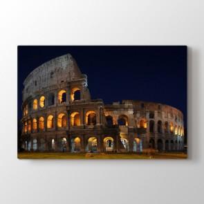 Kolezyumun Işıkları - Şehir Duvar Dekoru Kanvas Tablo