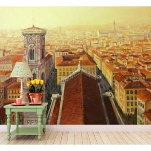 Çatı Katı Floransa Manzarası Duvar Kağıdı Önizleme